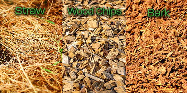 Three types of possible mulches