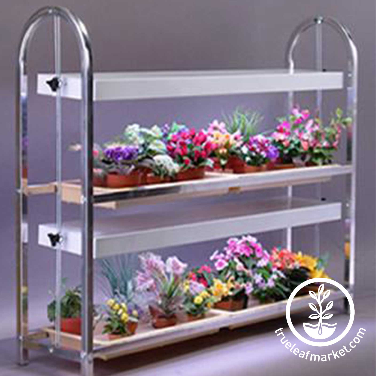 Four Tray 2 Shelf Microgreens Growing Stand