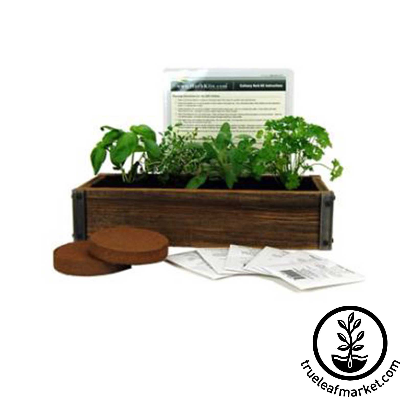 Barnwood Planter Herb Garden Kit