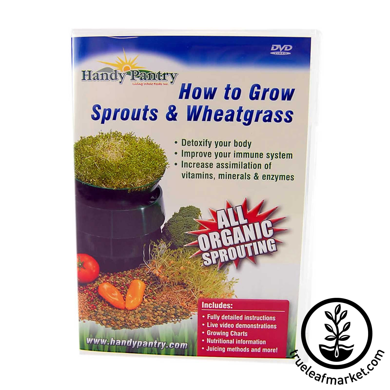 How to Grow Sprouts and Wheatgrass DVD