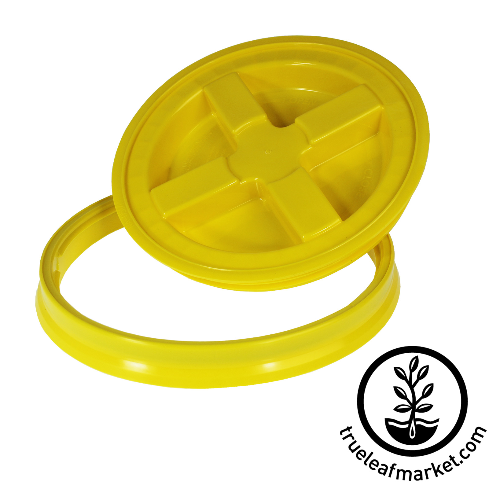 Yellow Lids for Reusable Storage