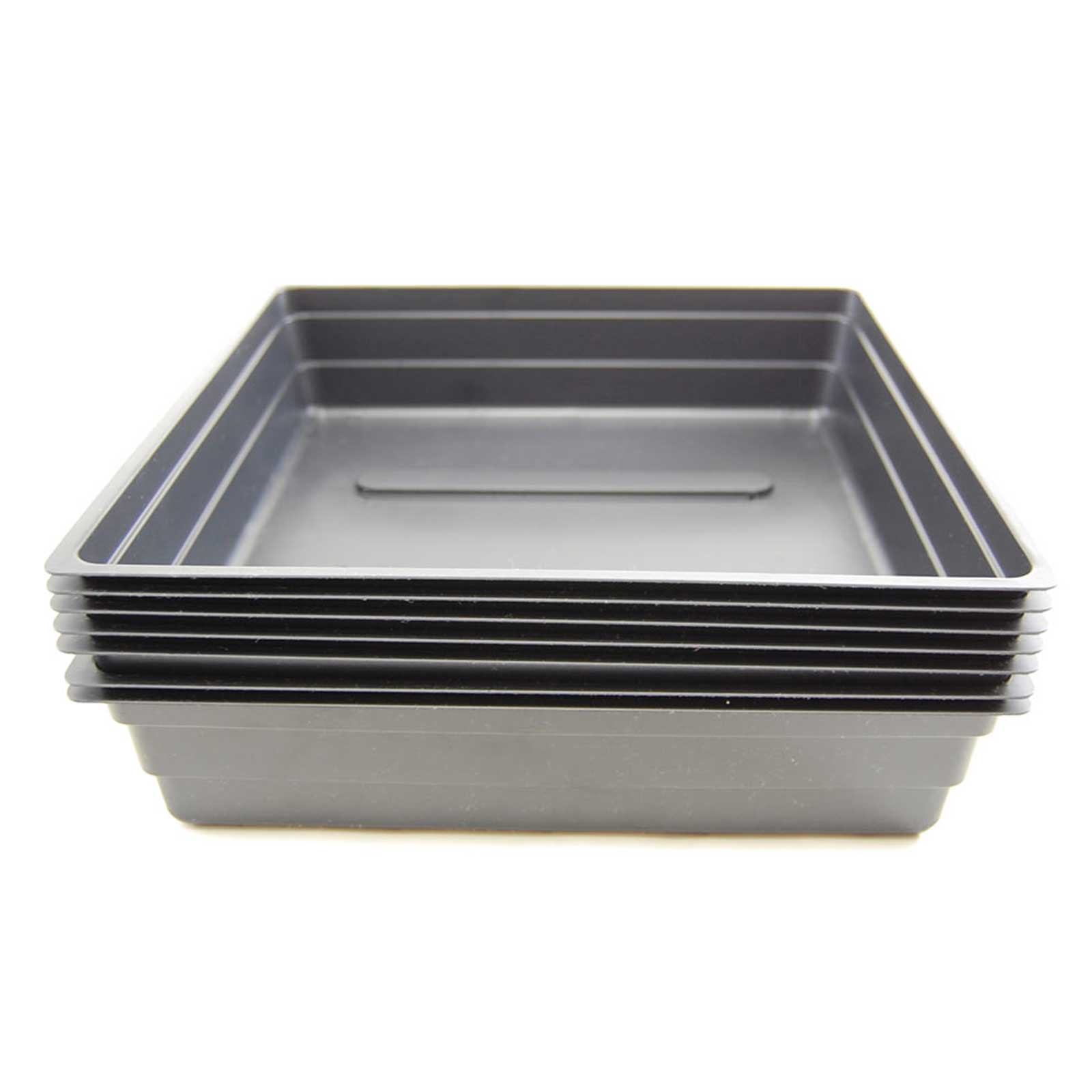 10x10 inch growing trays without drain holes. Half the size of our normal plant / wheatgrass growing trays. Works well as drip tray, or for growing wheatgrass and other growing applications. Re-usable growing tray. Choose Quantity: