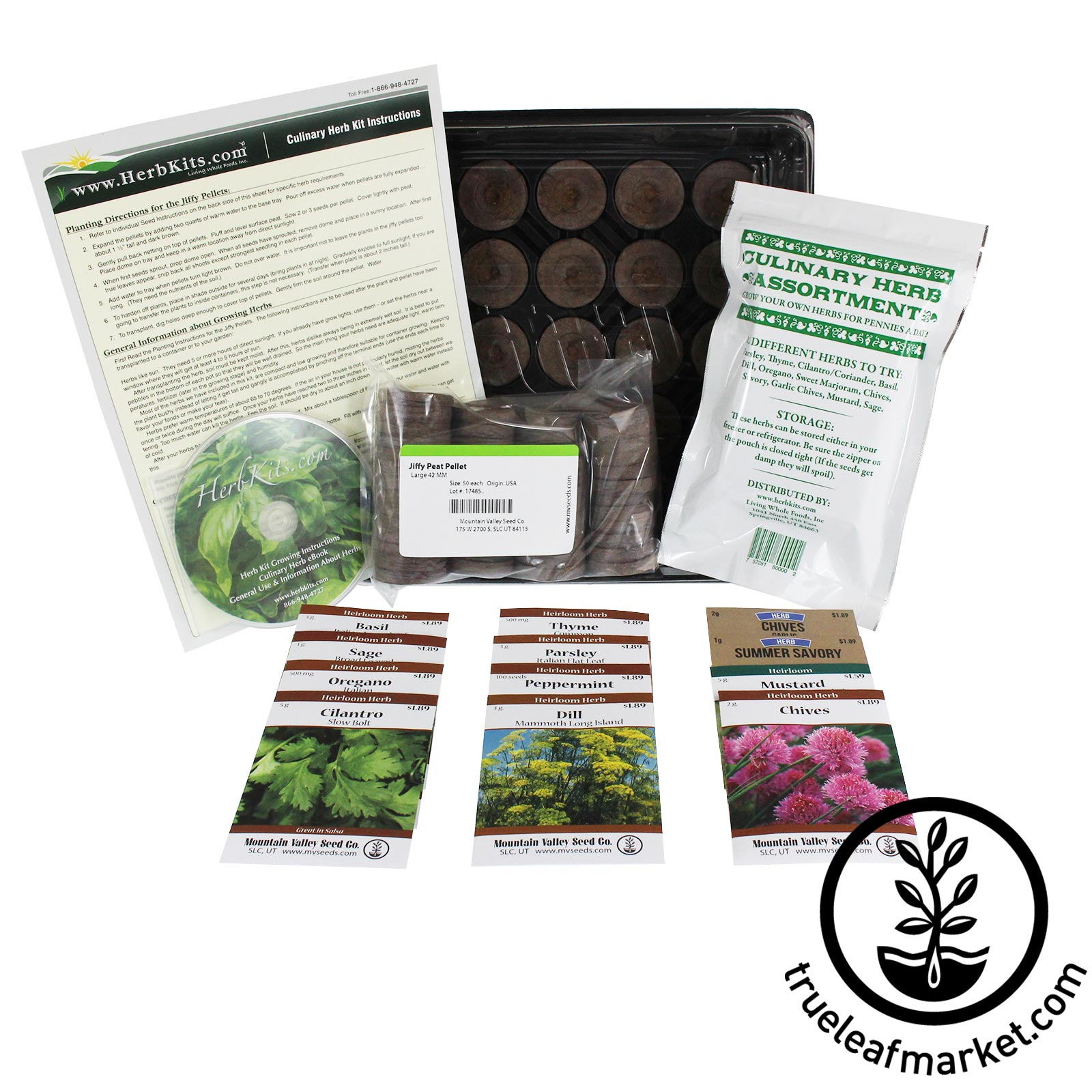 Herb Kits For Indoors: Indoor Culinary Herb Garden Kit