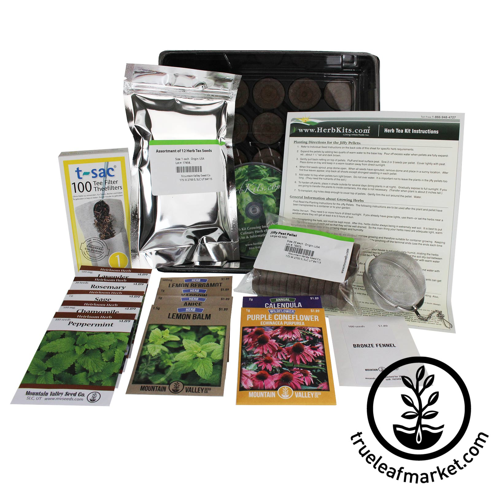 Indoor Herbal Tea Herb Garden Kit tea herbs, herbal tea herbs