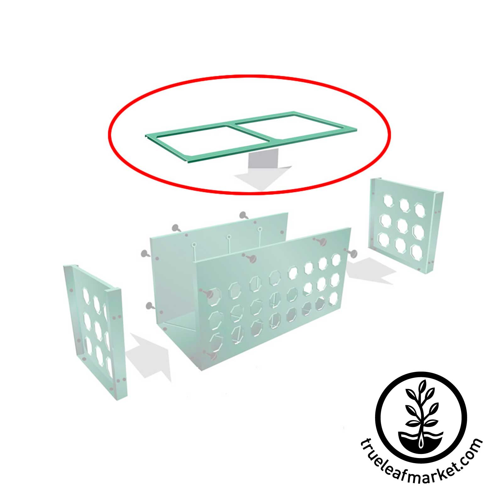 Lid (for Planter Box) planter, box, lid, replacement, pieces, additional