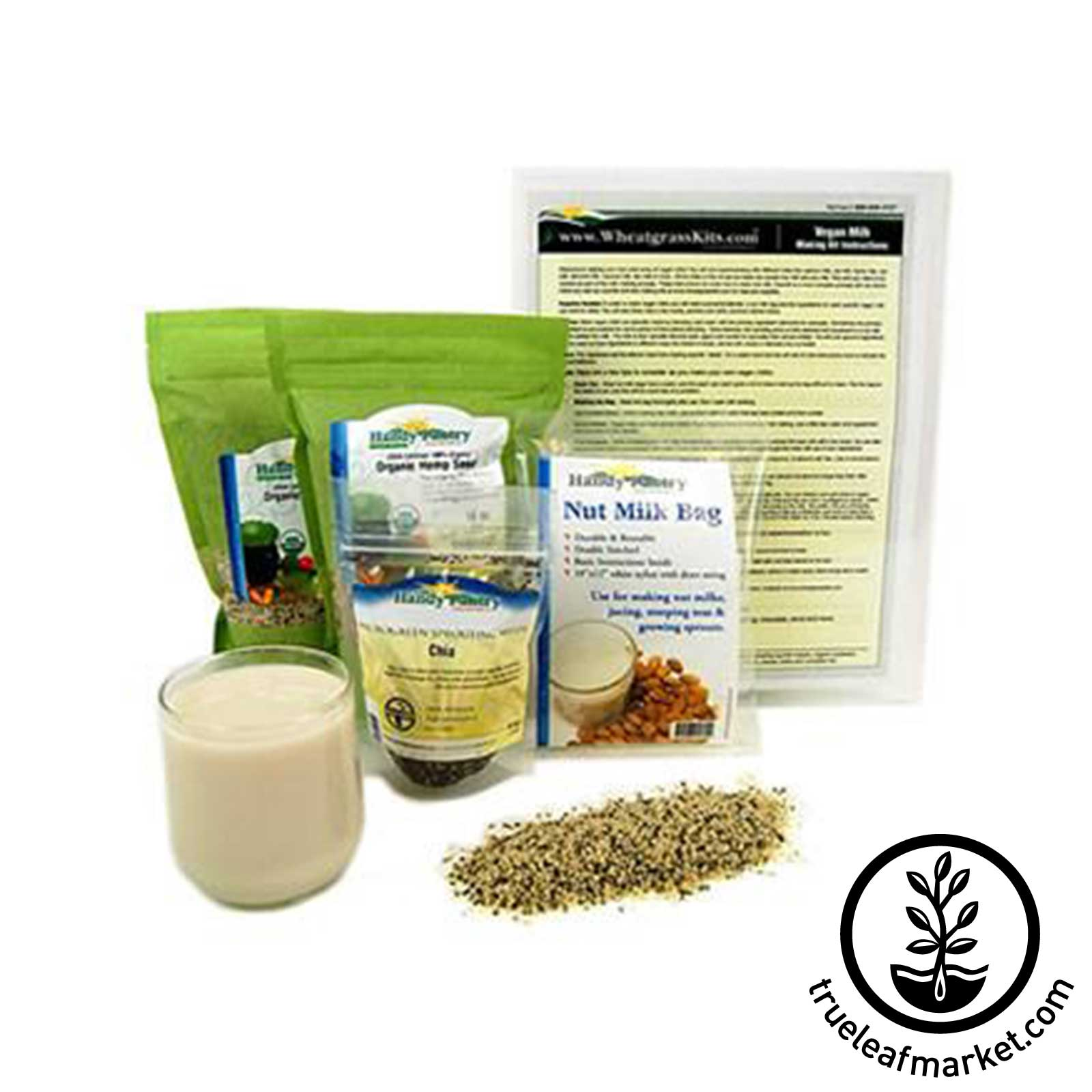 Organic Hemp Milk Kit vegan milk, nut milk, non dairy, vegan milk making, hemp milk