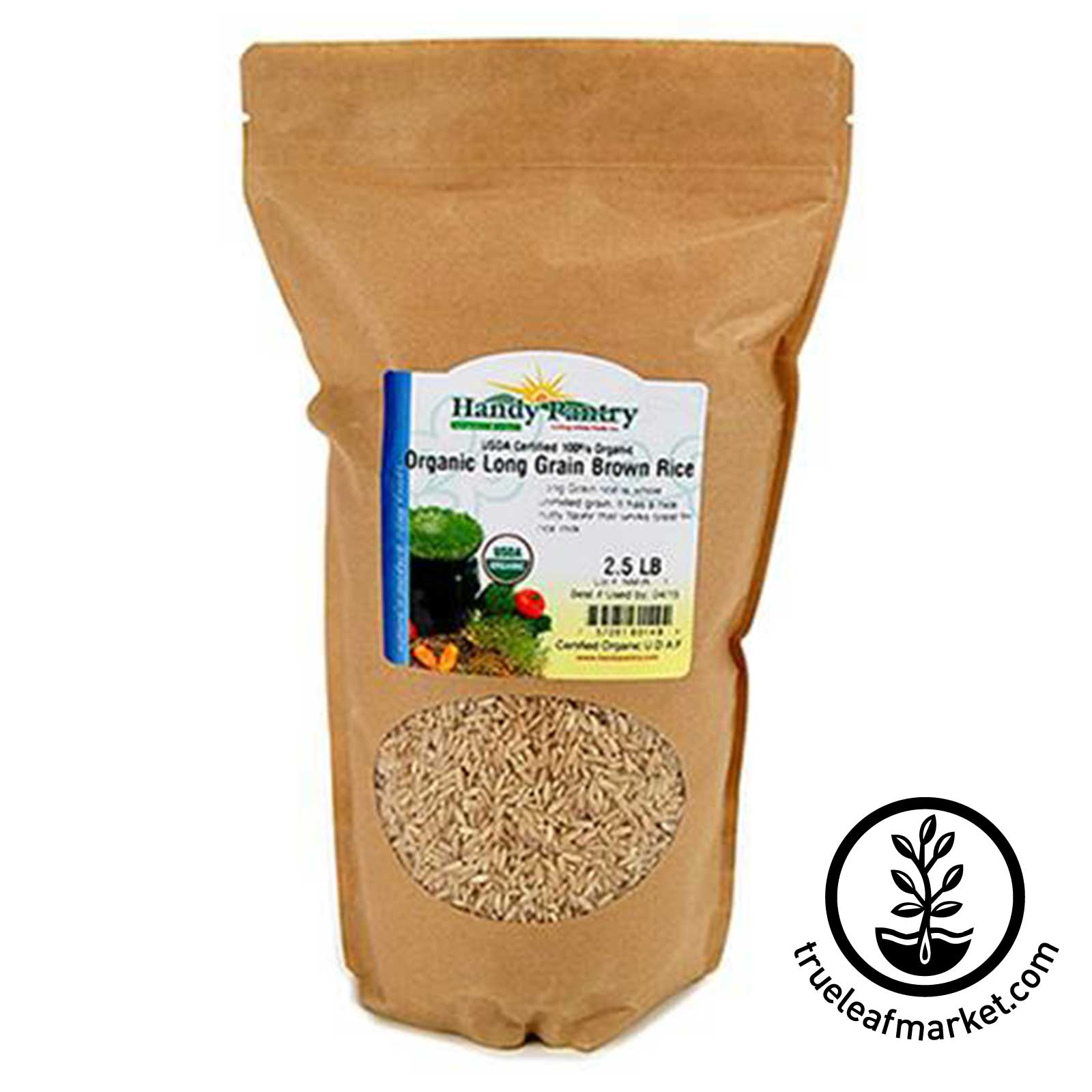 Organic Long Grain Brown Rice - 2.5 Lbs organic rice, long grain rice, organic brown rice