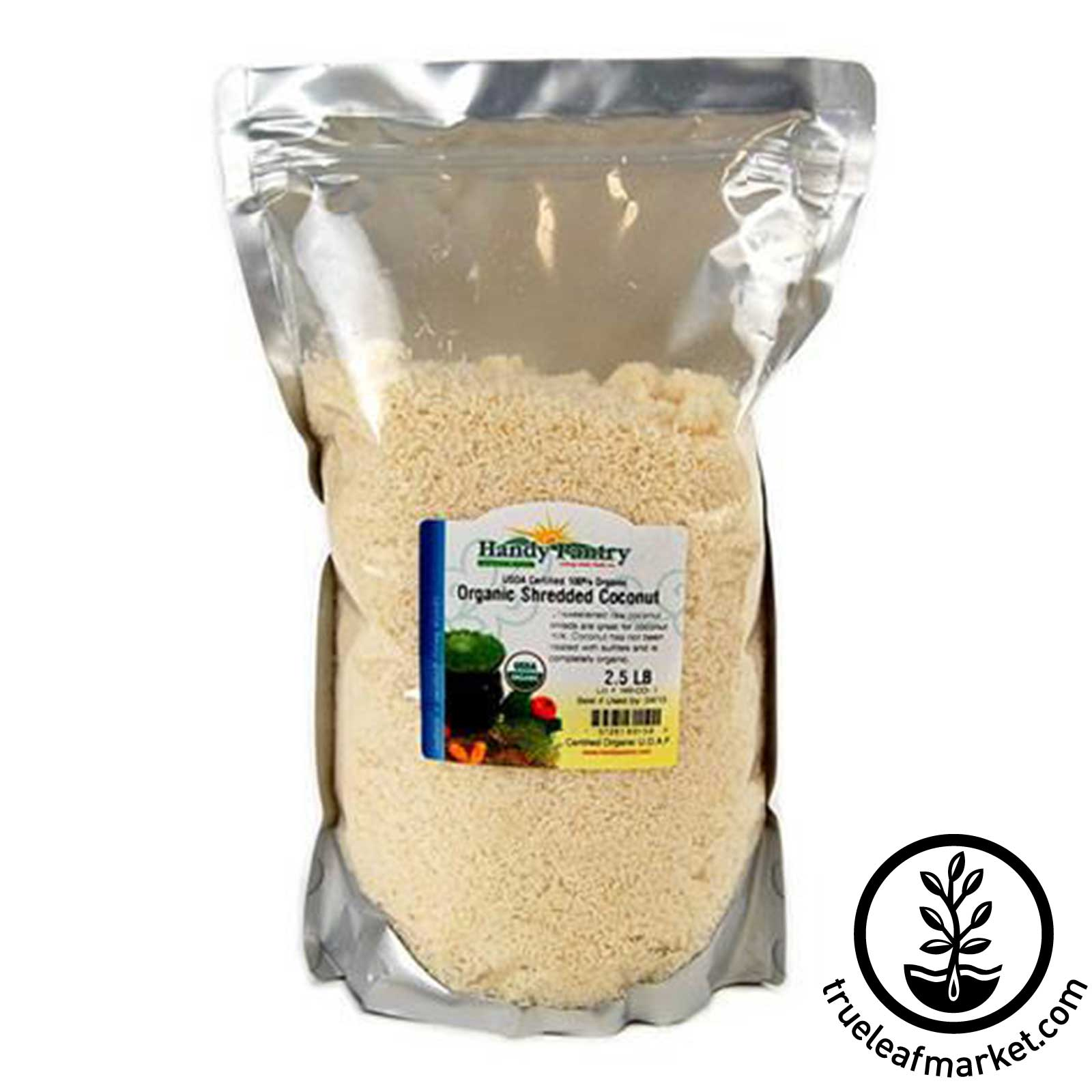 Organic Shredded Coconut - 2.5 Lbs organic coconut, shredded coconut, coconut