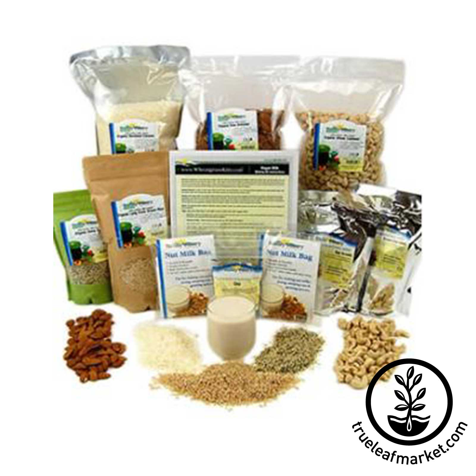 Deluxe Vegan Milk Kit - Organic vegan milk, nut milk, non dairy, vegan milk making, deluxe kit
