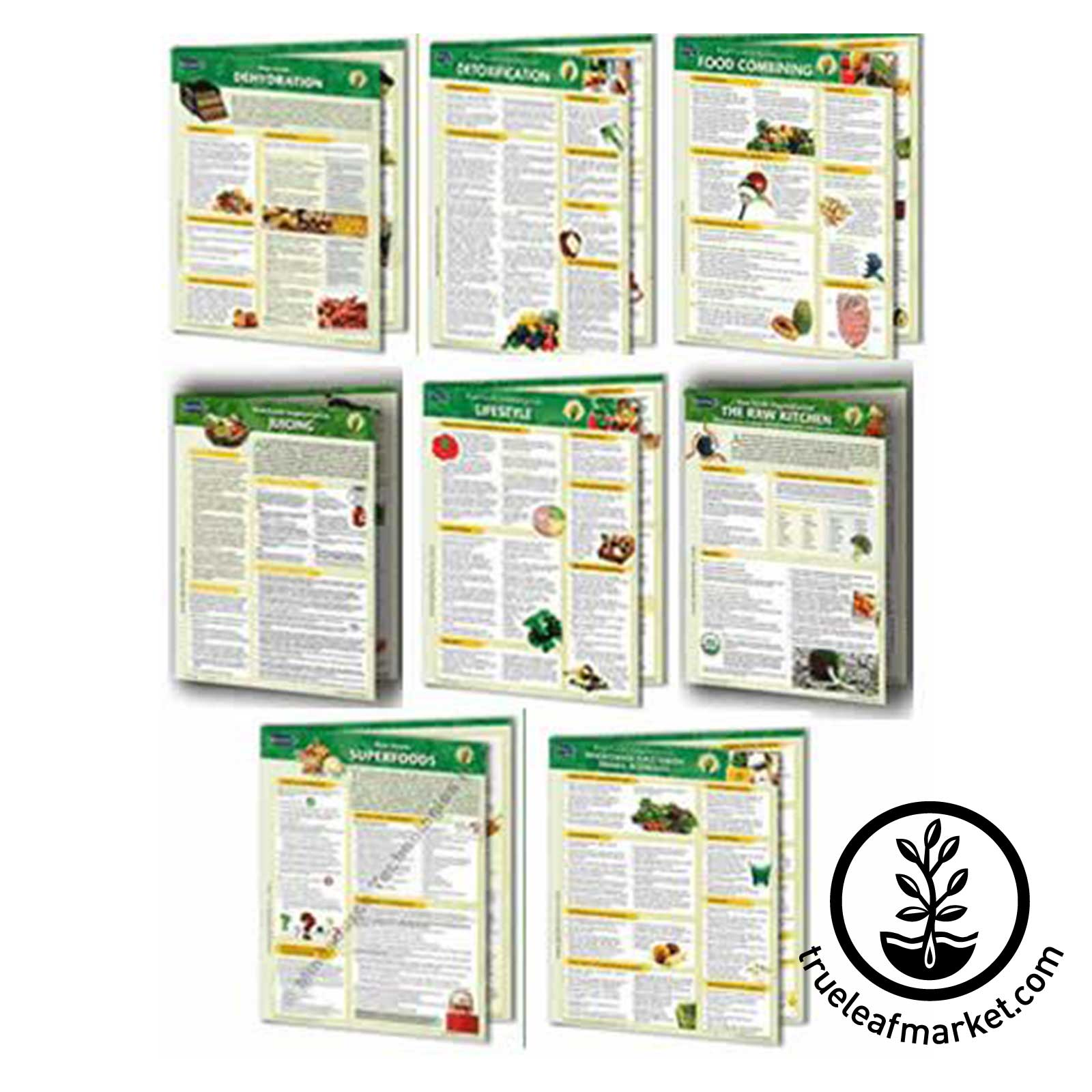 Permacharts: Bundle of 8 Raw Food Reference Charts