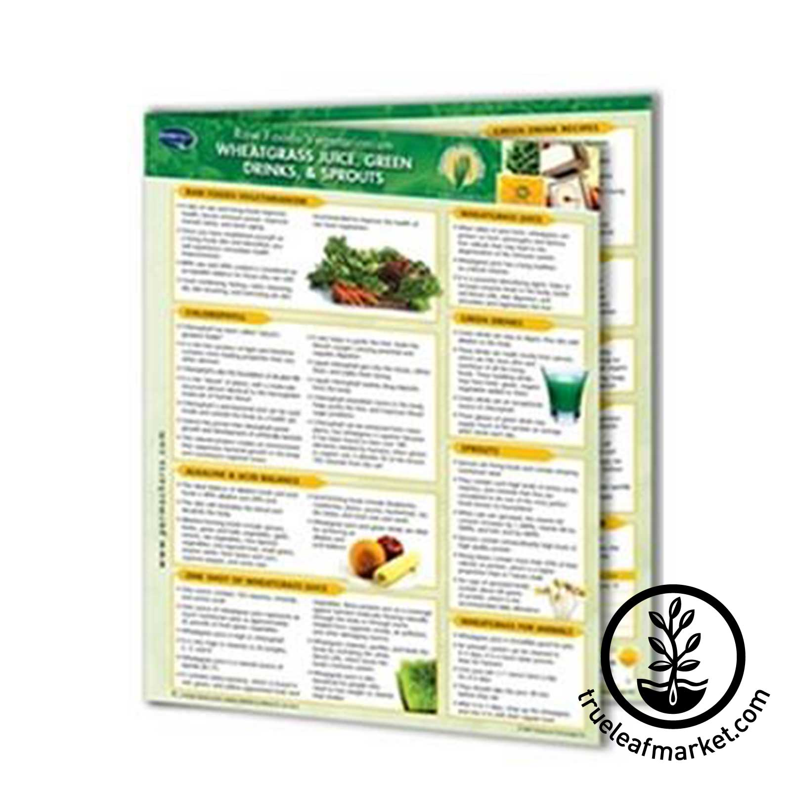 Permacharts - Raw Food Reference Card / Chart raw foods,wheatgrass juice, wheat grass, juice,green drinks, sprouts, permachart, chart