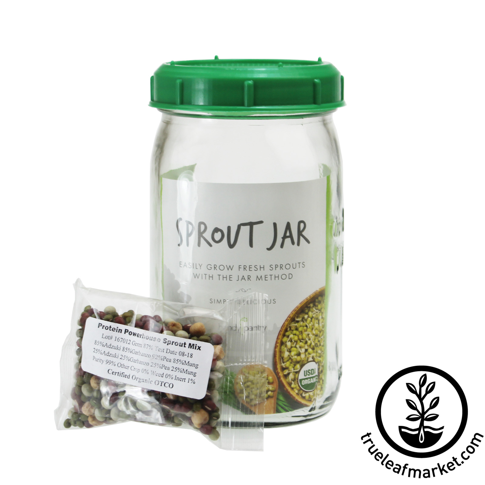 Sprouting Jar - Quart Size Seed Sprouter Jar