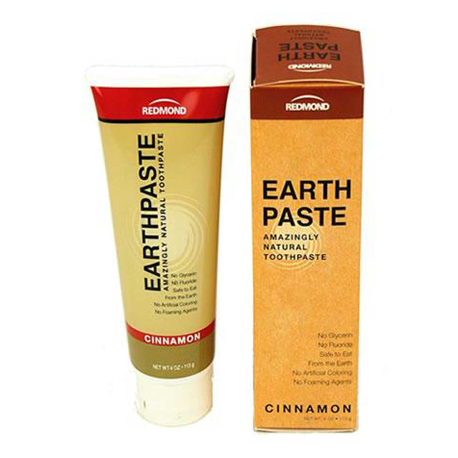 Earthpaste by Redmond - All Natural Toothpaste - 4 Oz. - Cinnamon