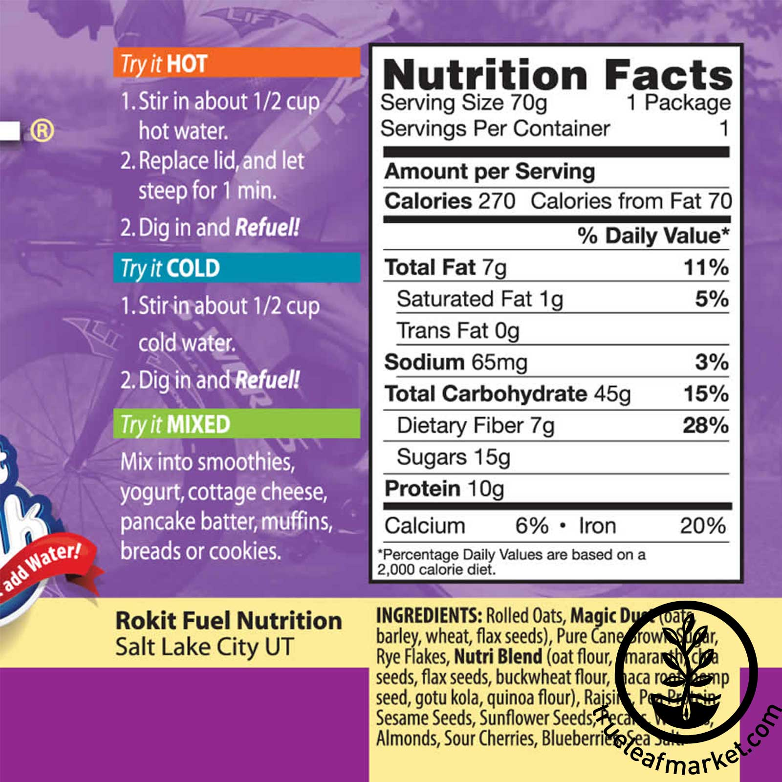 Nutritional Information - Oatmeal Super Cereal