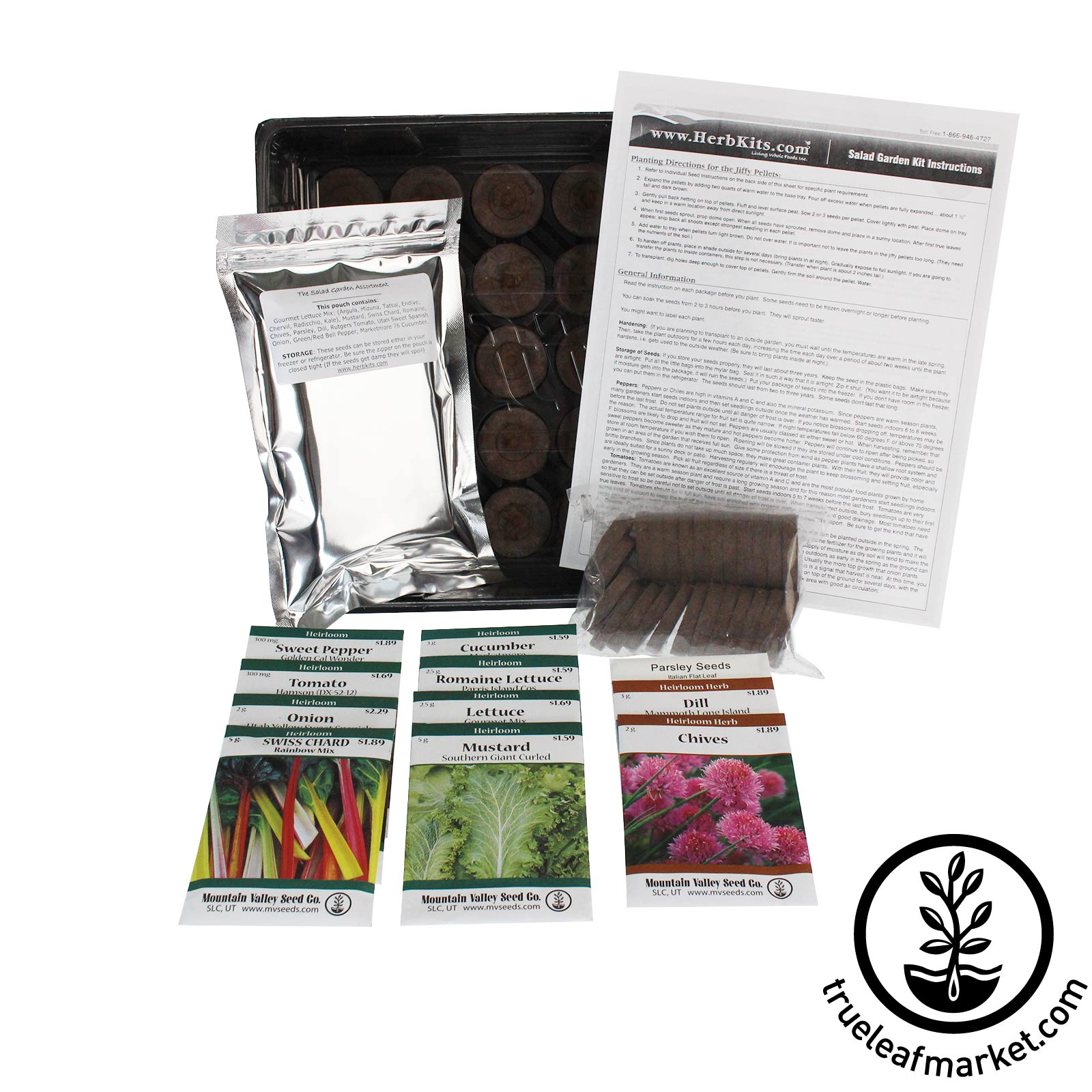 The Salad Garden Kit cooking, grow garden, indoor garden kit, exotic lettuce