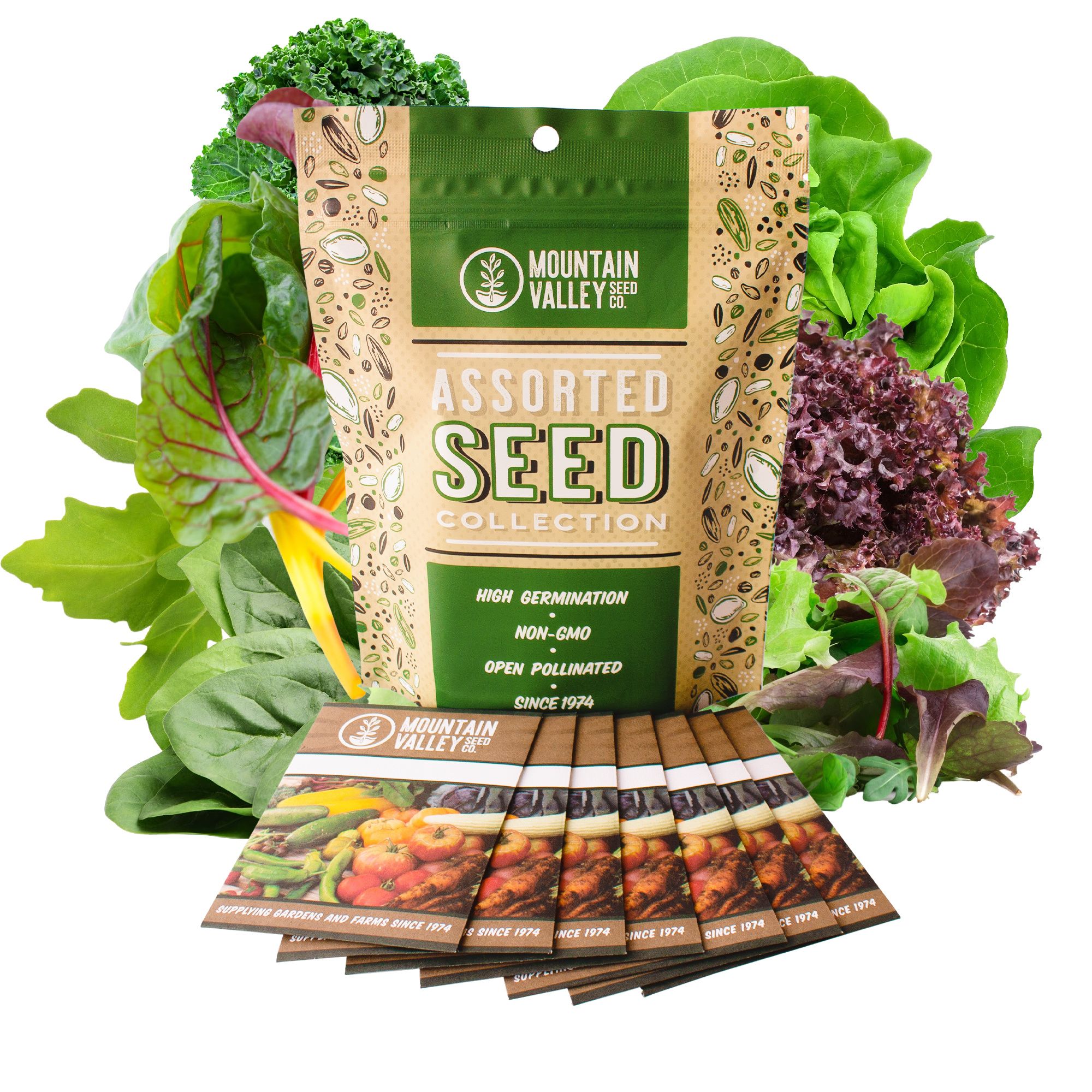 Conventional Leafy 7 Greens Seed Assortment