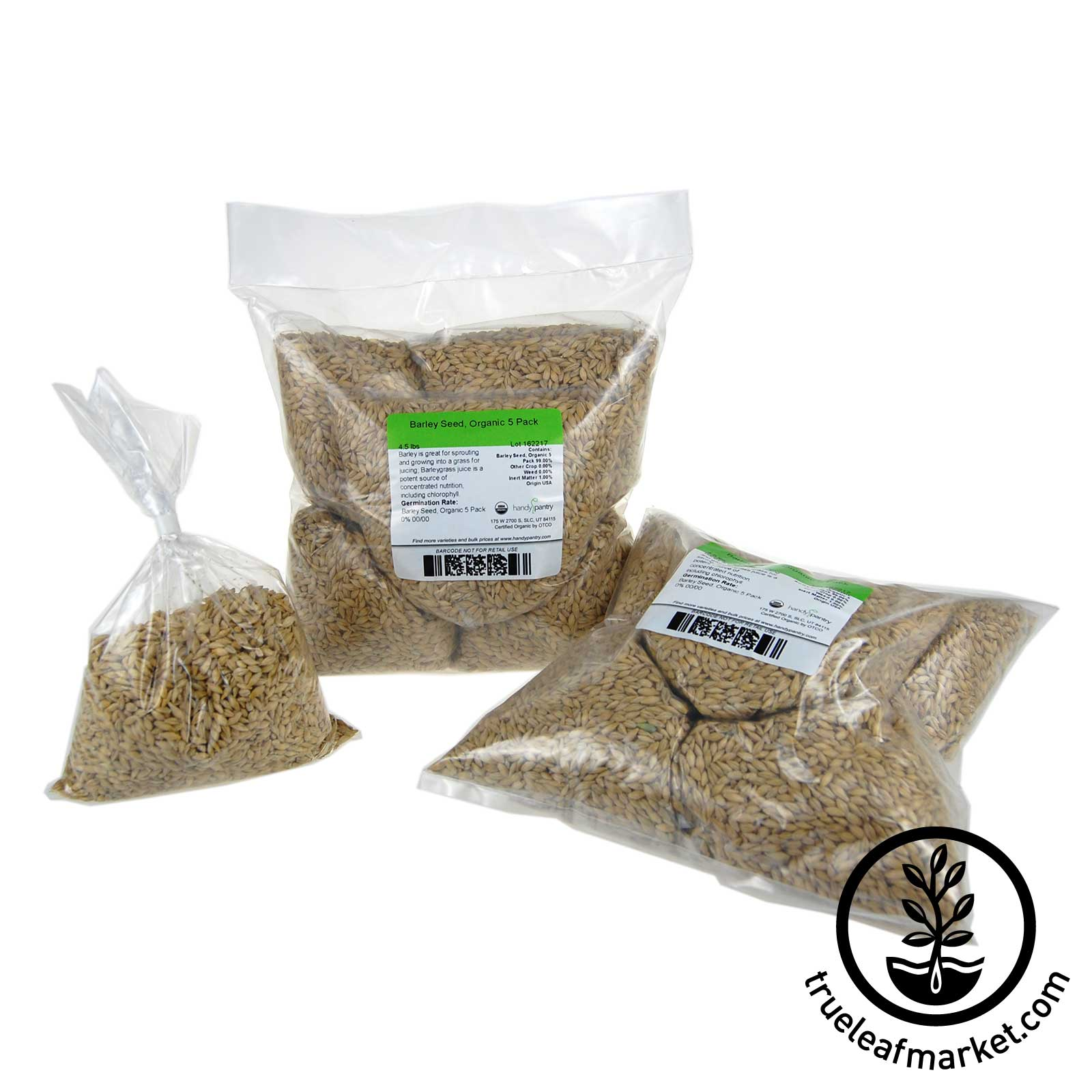 10 Pack of Pre-Measured Barley Grass Seed - For 21x11 Tray.