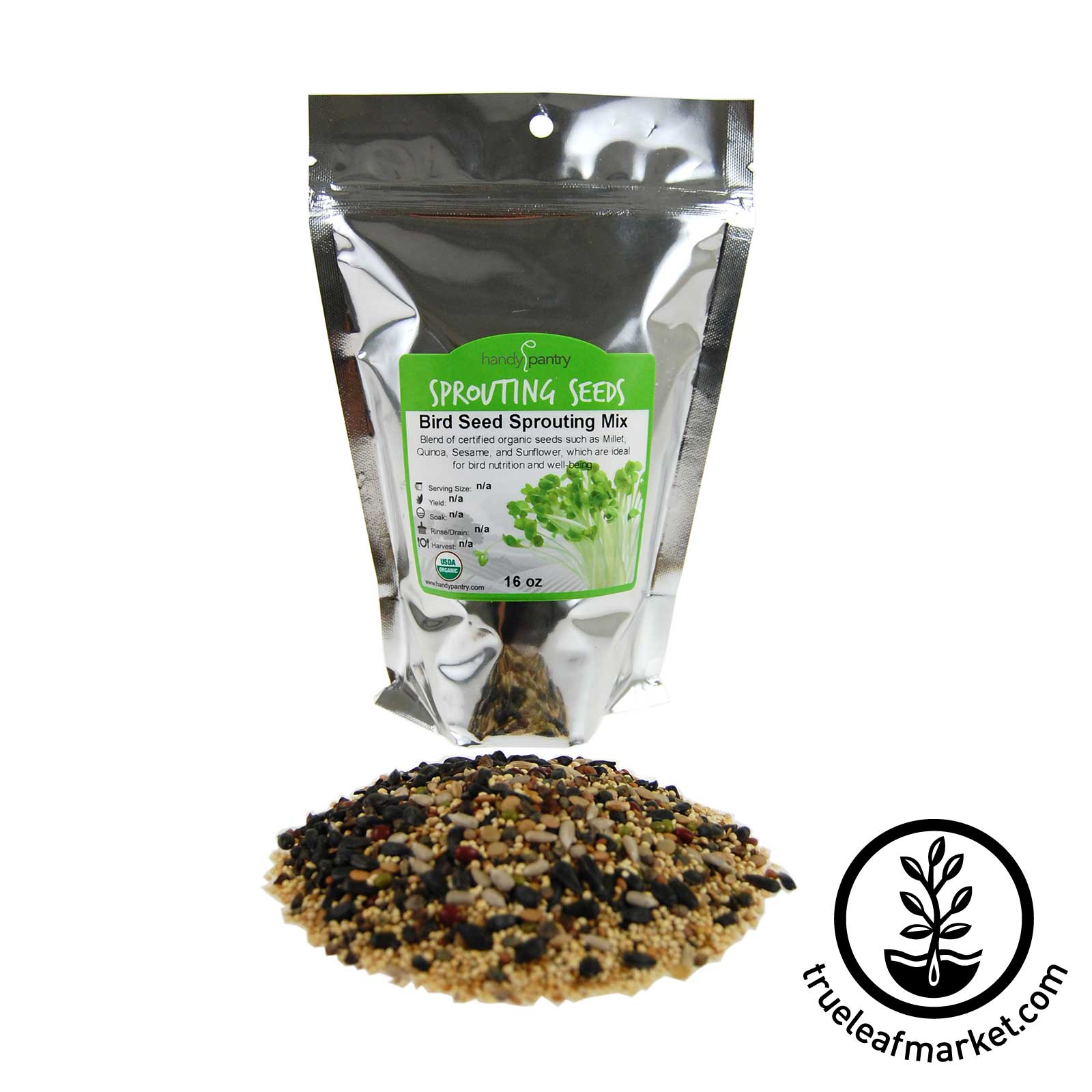16 oz - Organic Bird Seed Mix