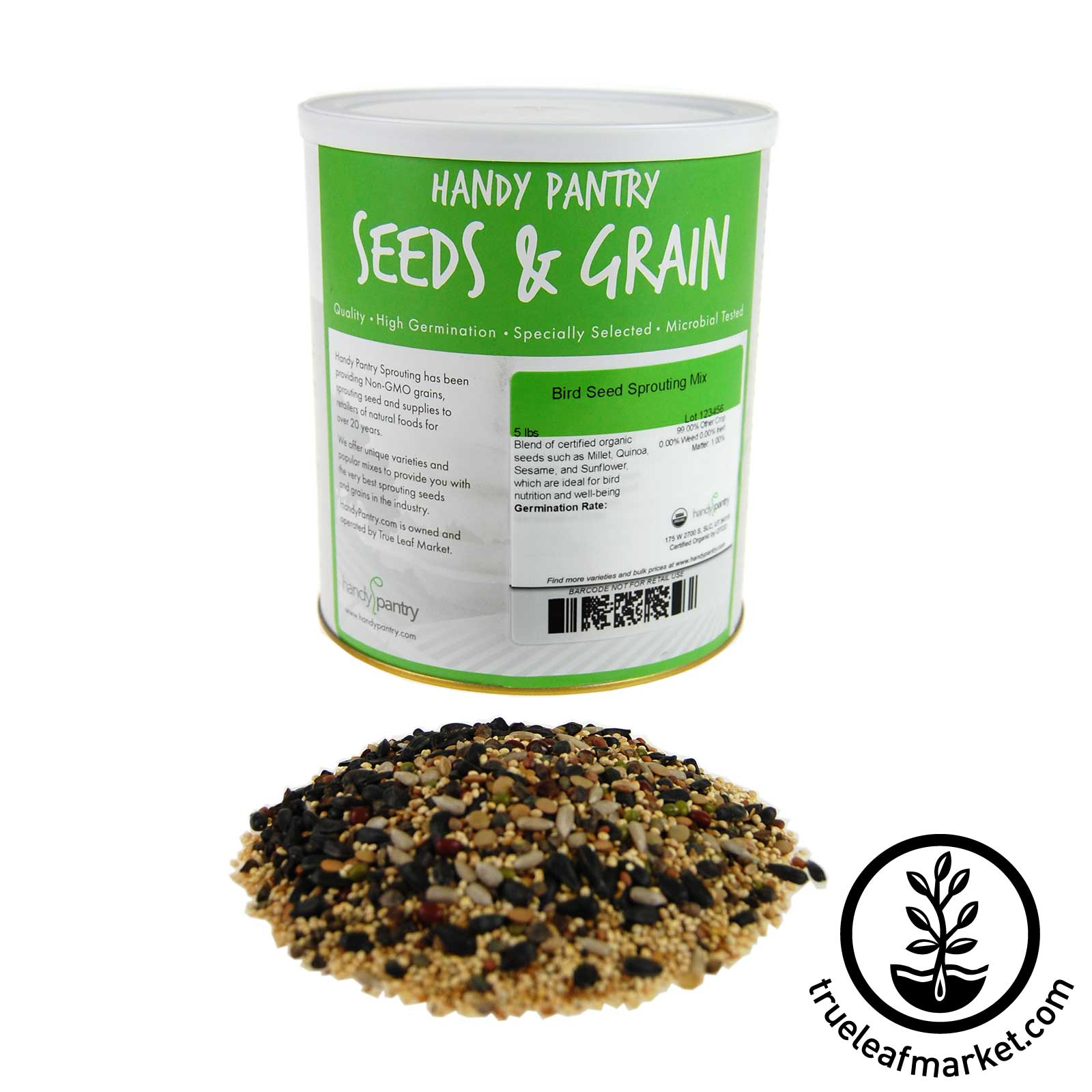 4.5 LB Can - Organic Bird Seed Mix