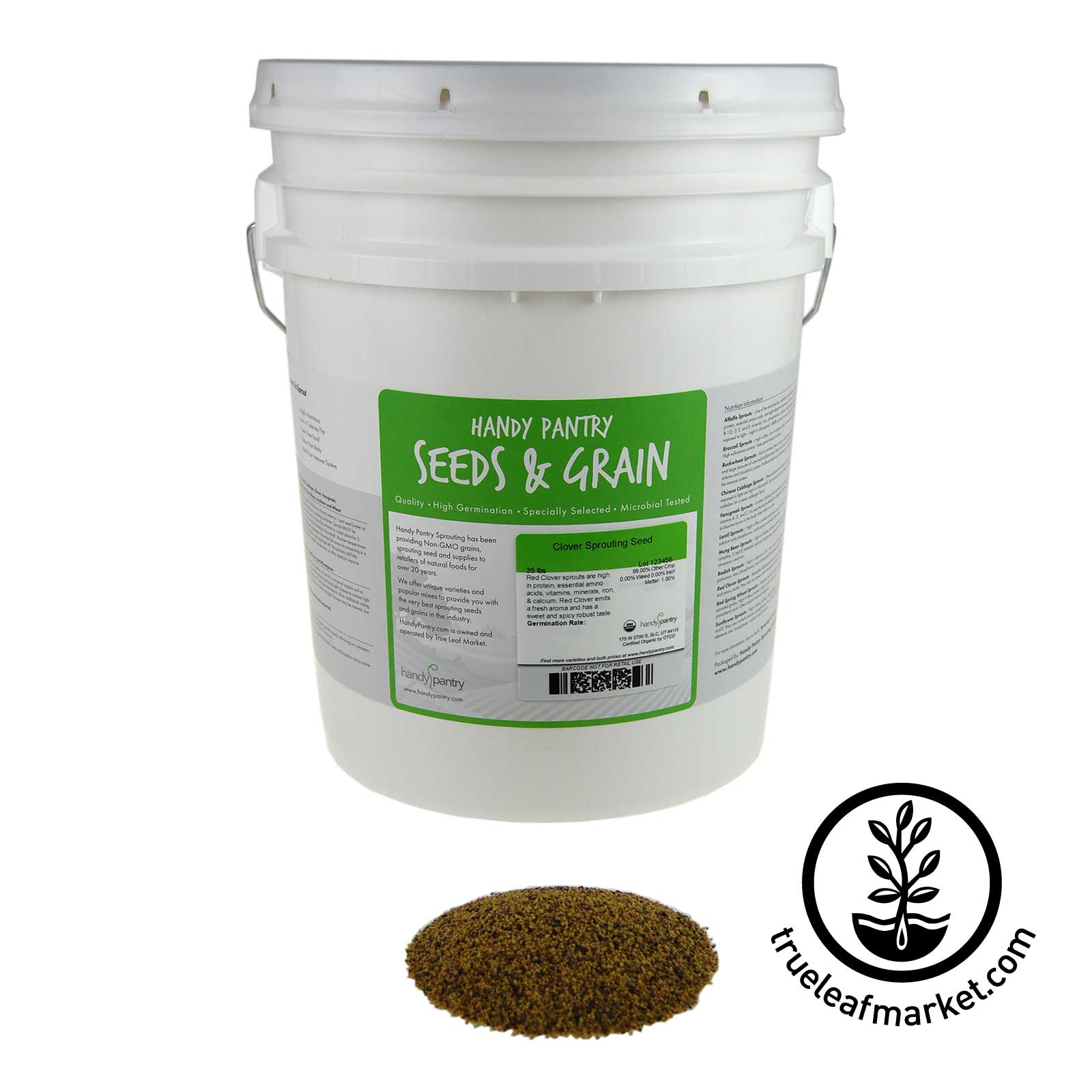 35 LB Bucket - Organic Red Clover