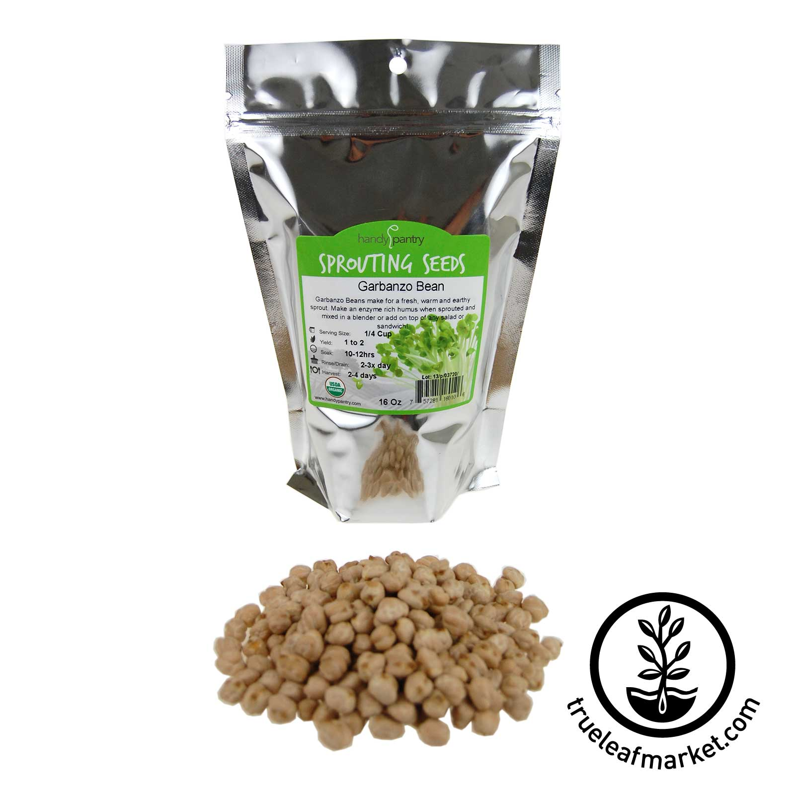 16 oz - Organic Garbanzo Bean