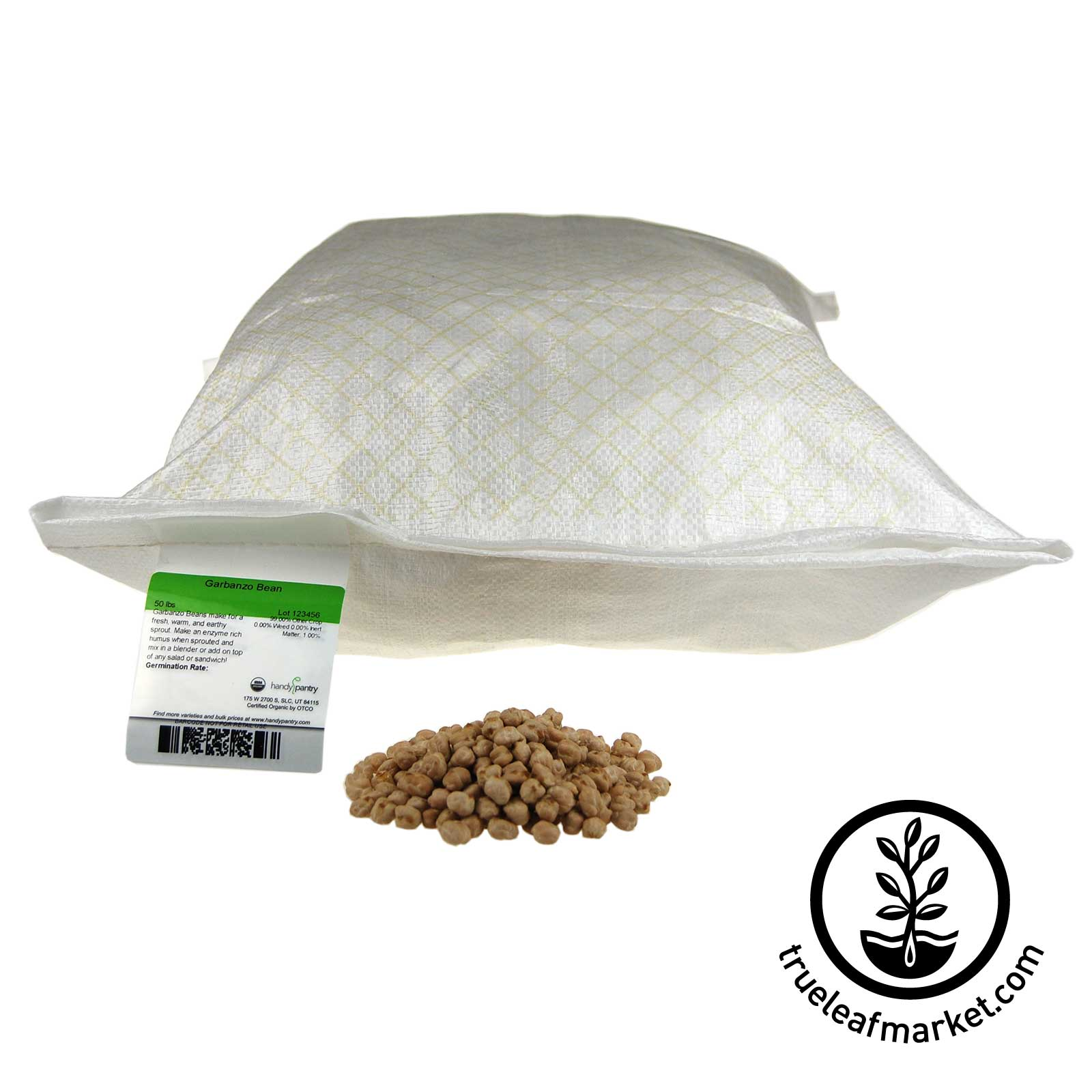 50 lb Non GMO Garbanzo Seeds
