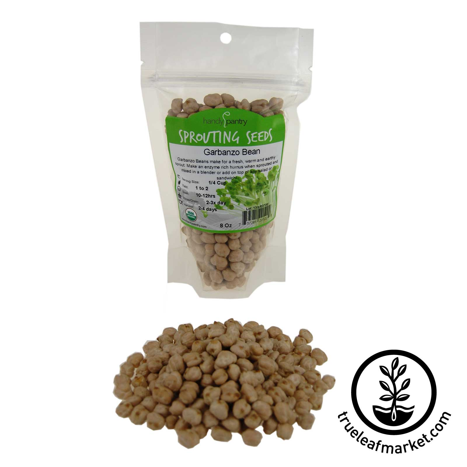 8 Oz - Organic Garbanzo Bean