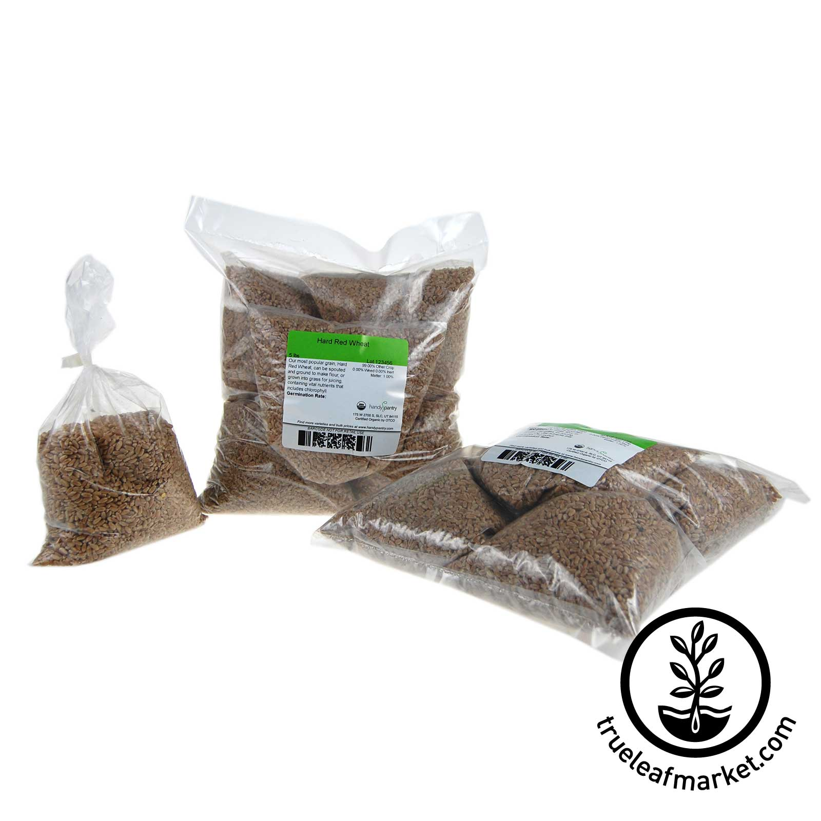 10 - One LB Bags- Hard Red Pre-Measured Wheatgrass Seed Refills