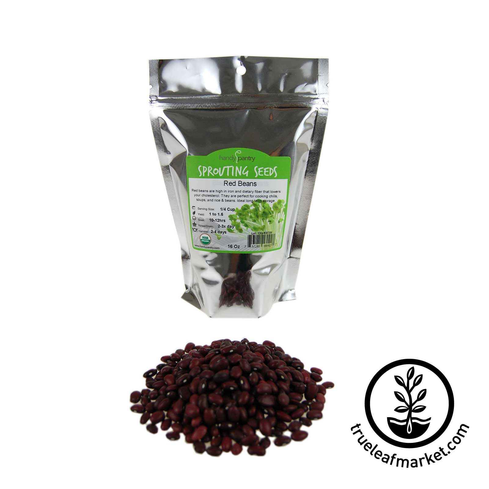 16 oz - Organic Red Small Beans