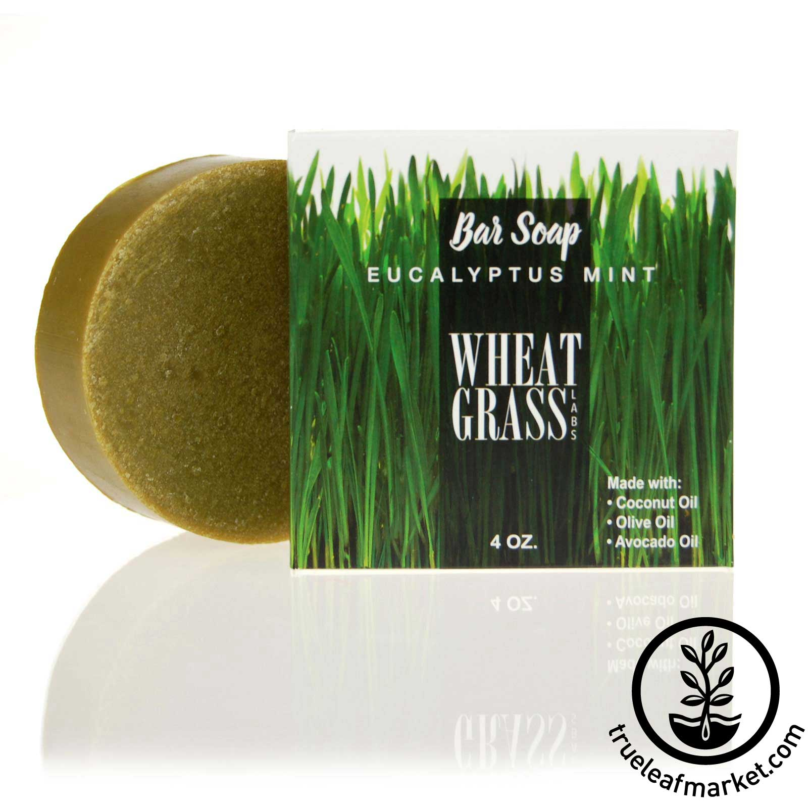 Wheatgrass and Eucalyptus Mint Bar Soap