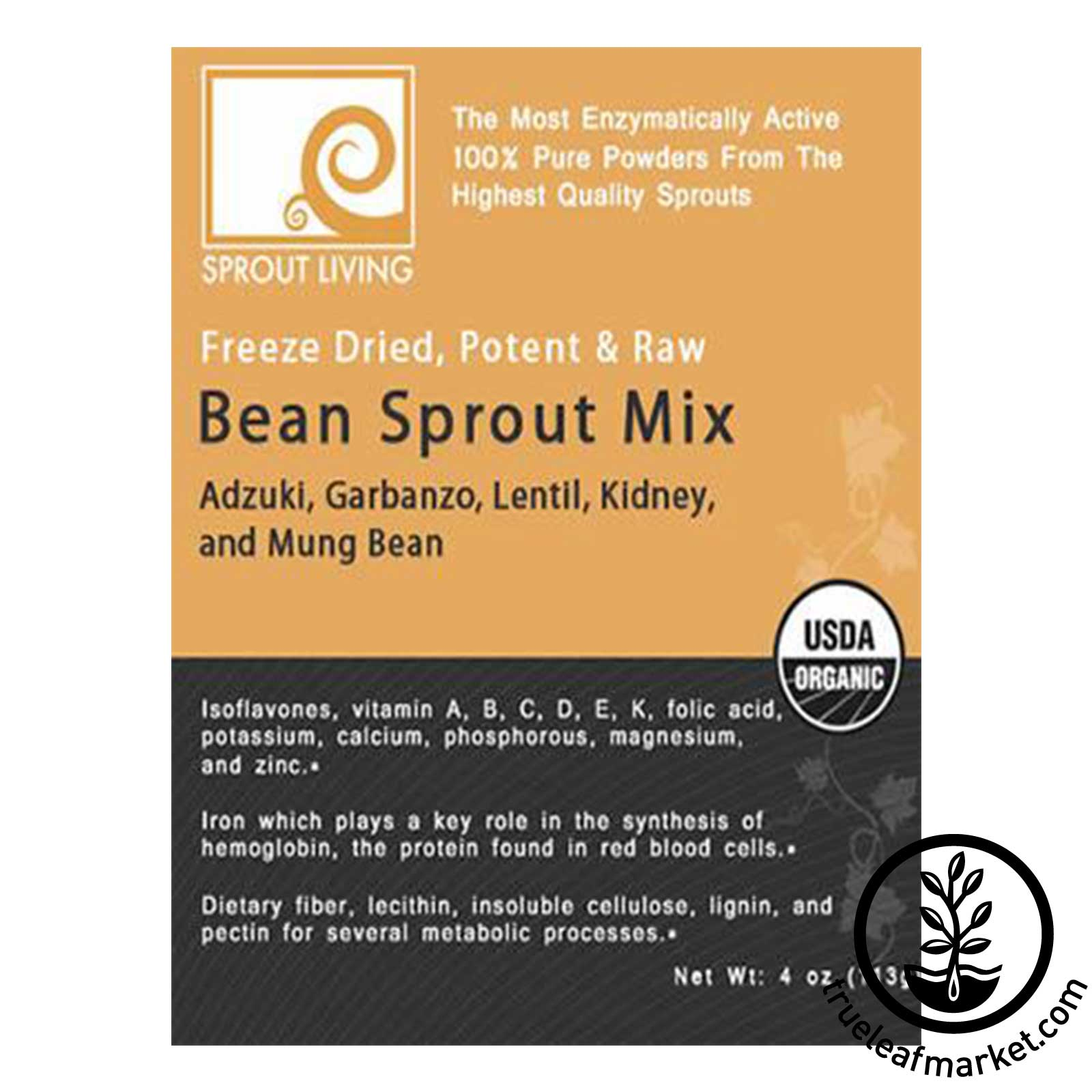 Bean Sprout Powder Mix by Sprout Living - Front Label