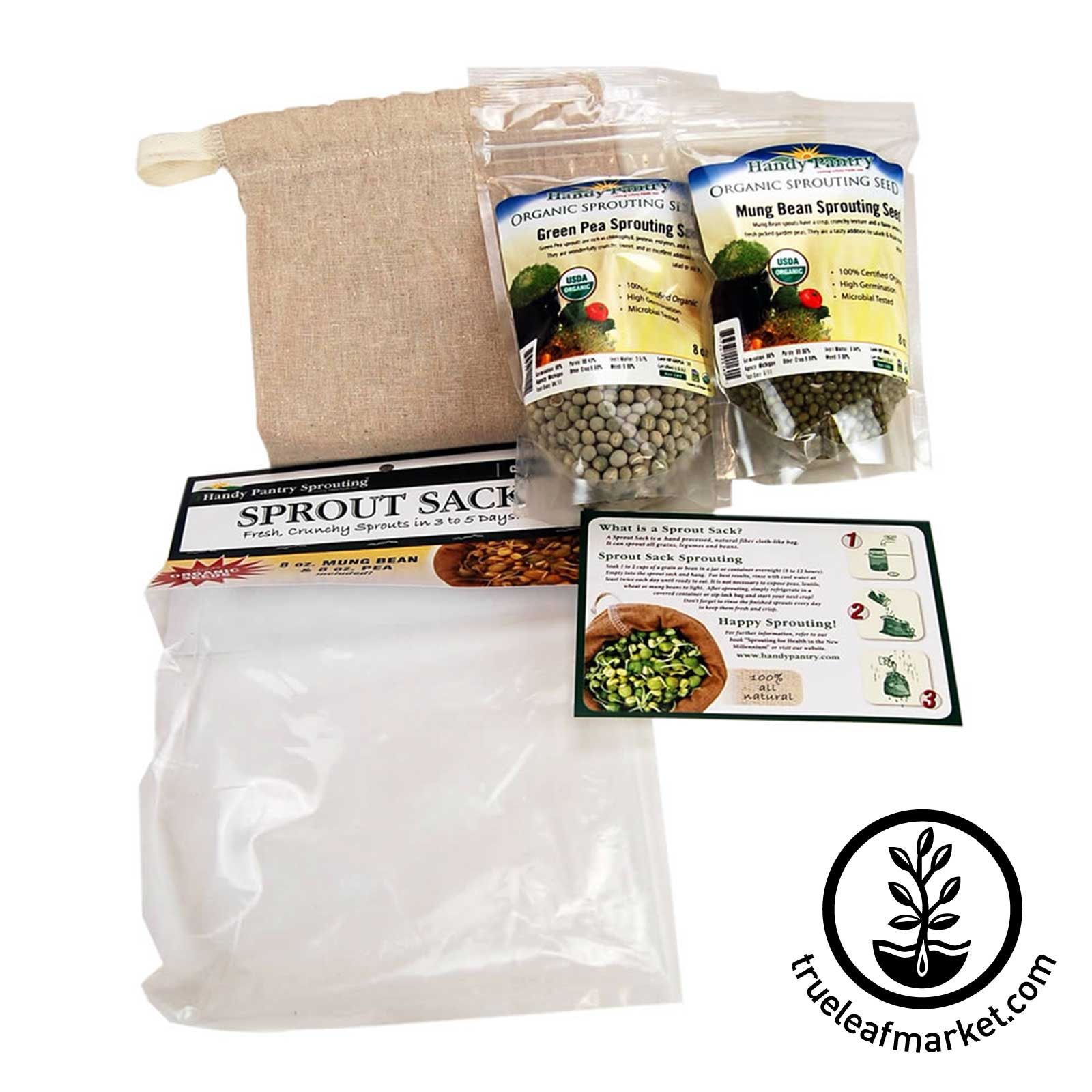 Sprout Sack Kit Combo - Seed Sprouter Bag
