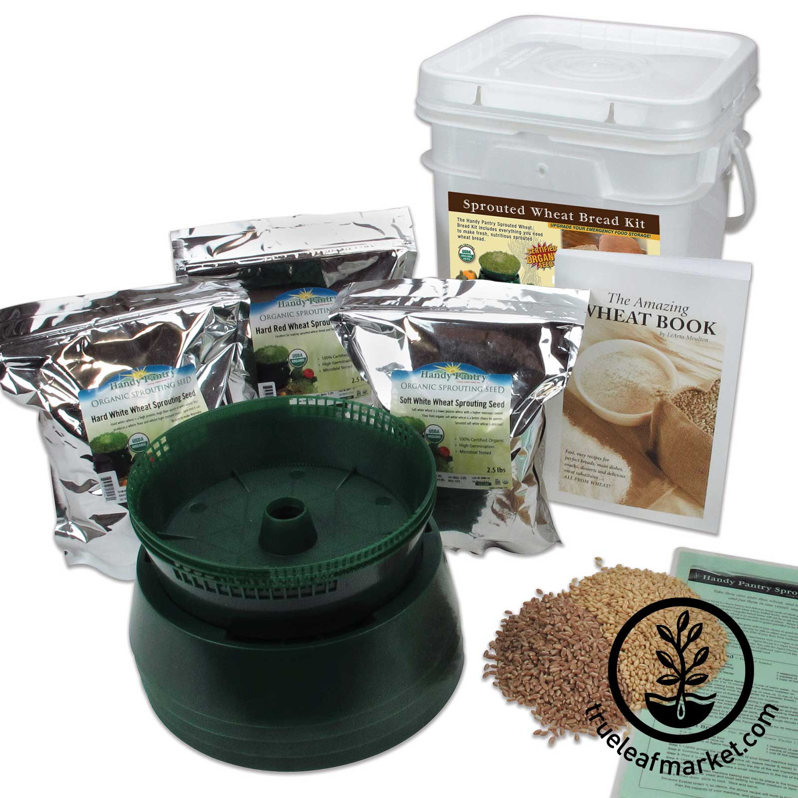 Organic Sprouted Grain Bread Kit sprouted grain bread, sprouted wheat bread