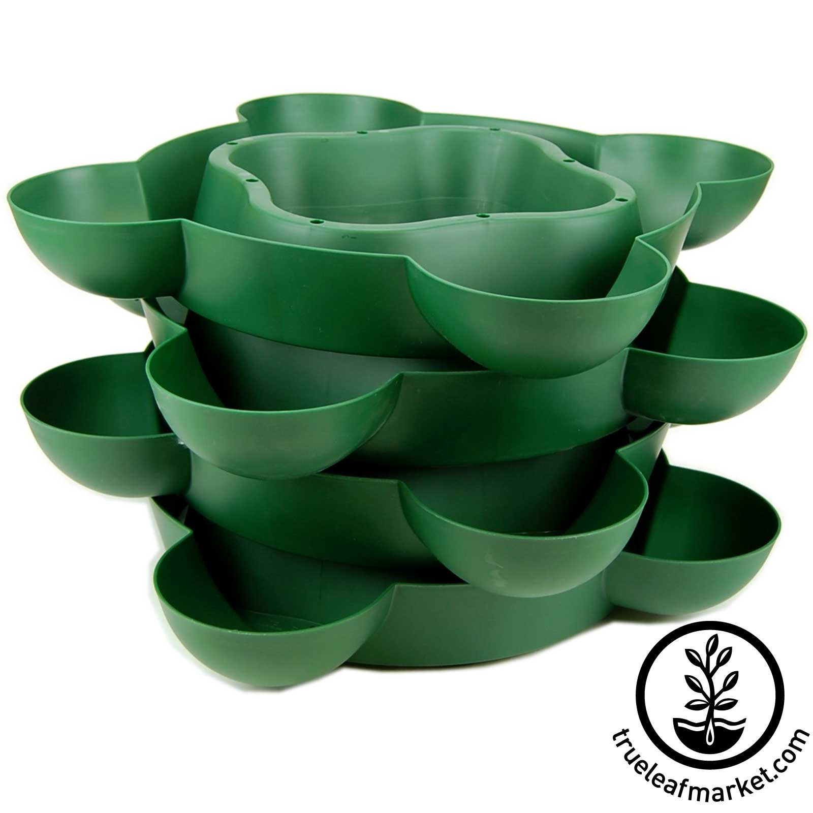 Expandable Stack and Grow Trays - Green