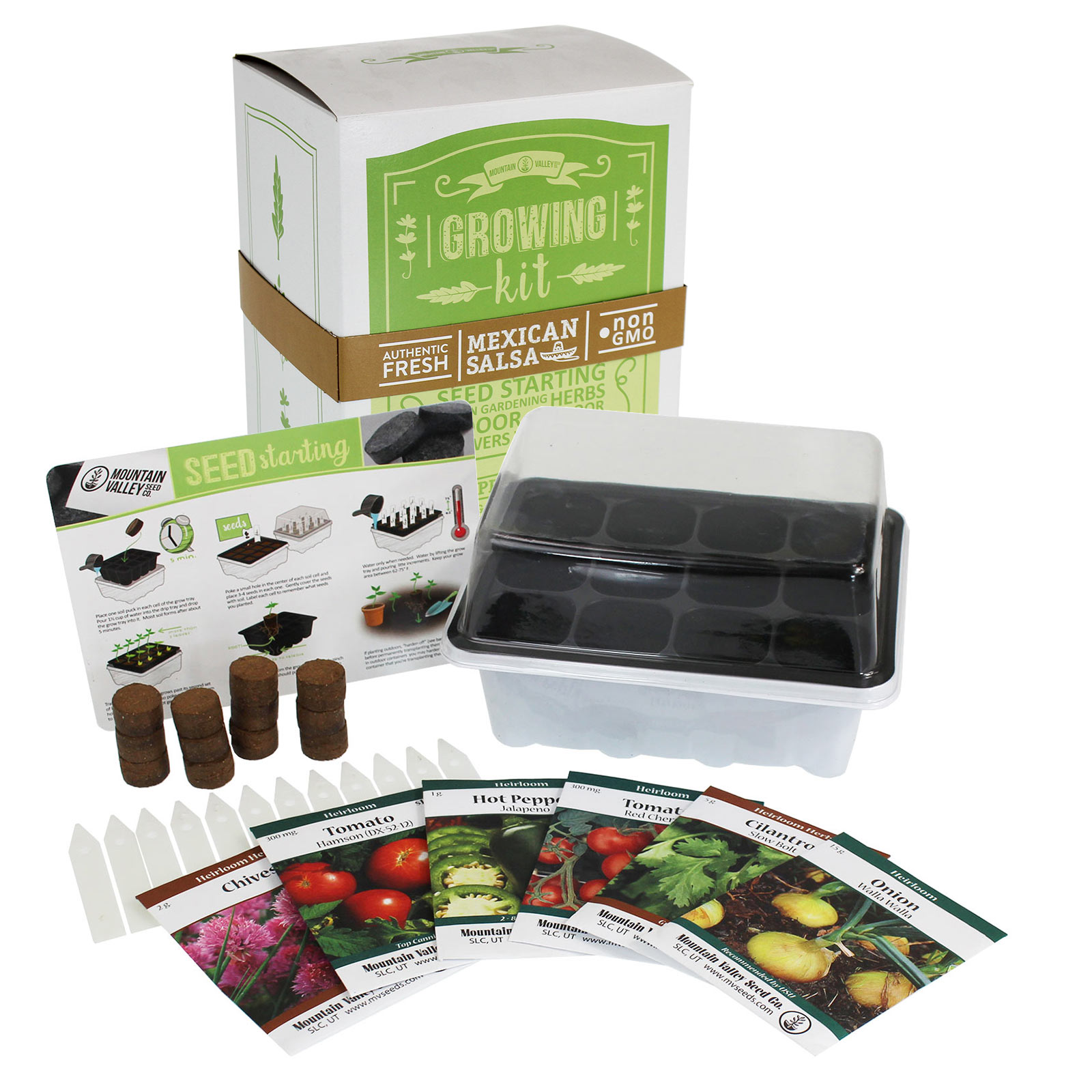 Premium Seed Starter Kit - MEXICAN SALSA