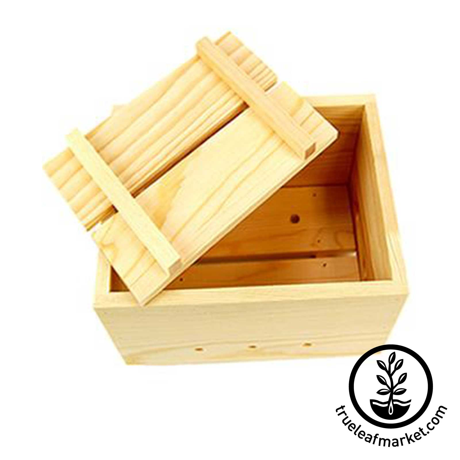 Wooden Tofu Press - Top View