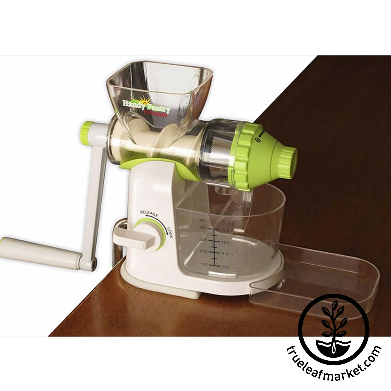 Typhoon Wheatgrass Juicer wheatgrass juicer, manual juicer, hand crank juicer