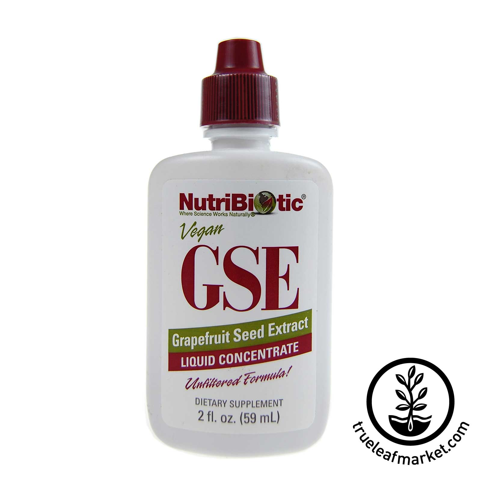 2 oz. GSE Liquid Grapefruit Seed Extract by NutriBiotic - For wheatgrass mold control