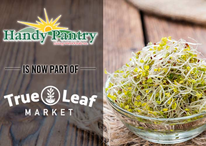 Handy Pantry Hompage - Now at True Leaf Market!