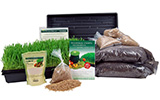 Wheatgrass, sprouting, and garden kit products